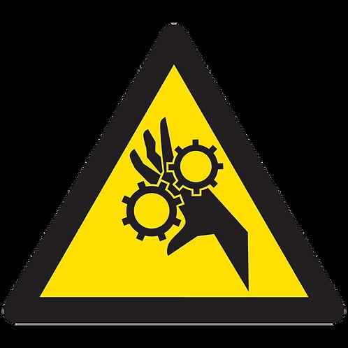 WARNING - Moving Parts Can Crush