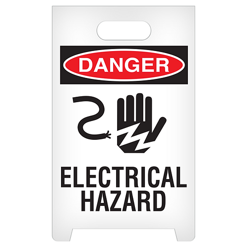 A-Frame Standing Floor Sign - DANGER - Electrical Hazard