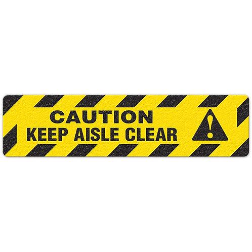 Caution - Keep Aisle Clear Floor Sign