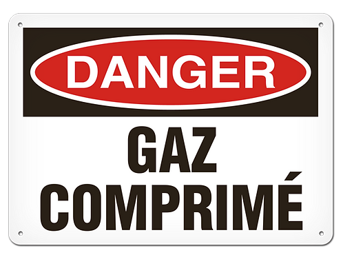 DANGER - Gaz comprimé Safety Sign