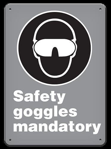 MANDATORY - Safety Goggles Mandatory