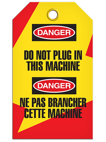 Bilingual LOCKOUT - Do Not Plug In This Machine