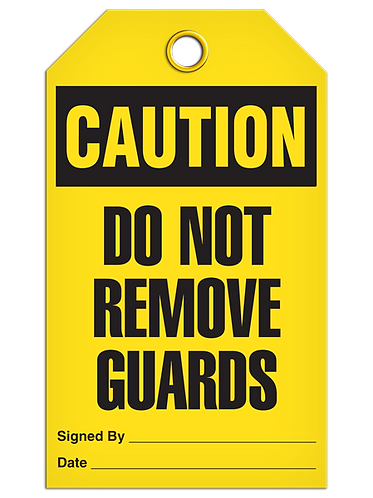 CAUTION - Do Not Remove Guards