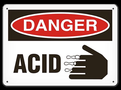DANGER - Acid Safety Sign