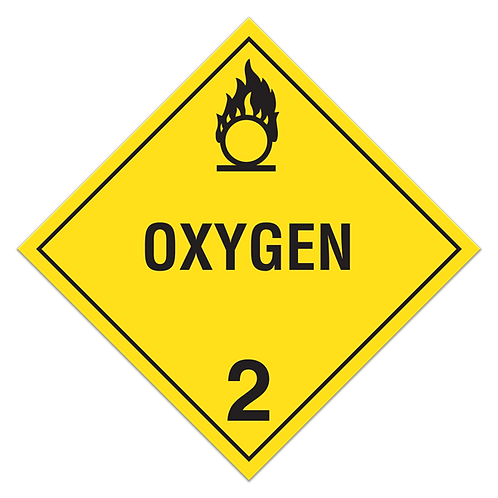 Class 2 - Oxidizing Gases Truck Placards