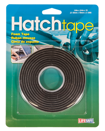 "Hatch Foam Tape 0.75"" x 7ft (Black)"