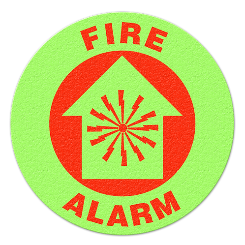 Fire Alarm Glow Floor Sign