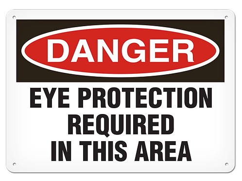DANGER - Eye Protection Required In This Area