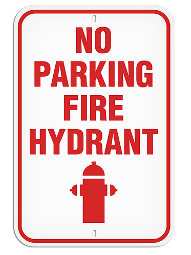 PARKING LOT SIGN - No Parking Fire Hydrant