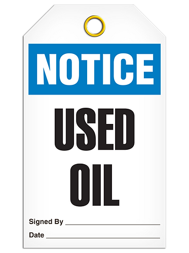 NOTICE - Used Oil