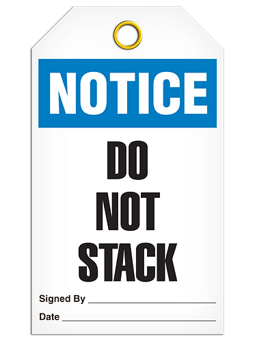 NOTICE - Do Not Stack