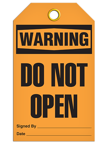 WARNING - Do Not Open