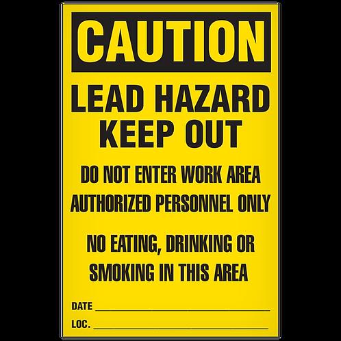 CAUTION - Lead Hazard
