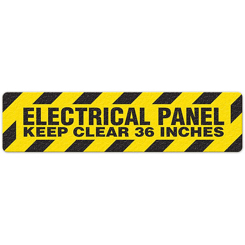 Electrical Panel - Keep Clear 36 Inches Floor Sign