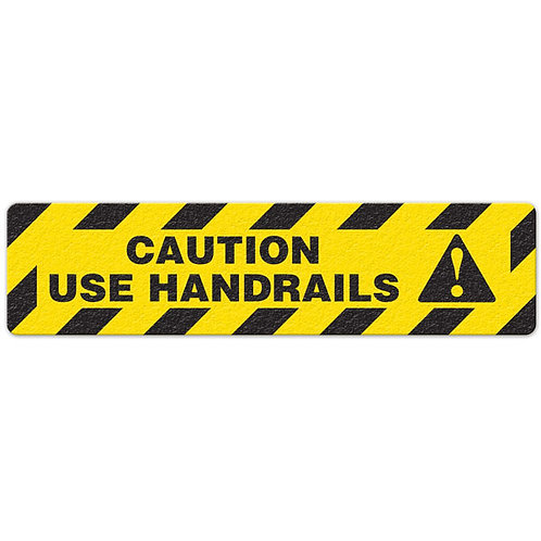 Caution Use Handrails Floor Sign