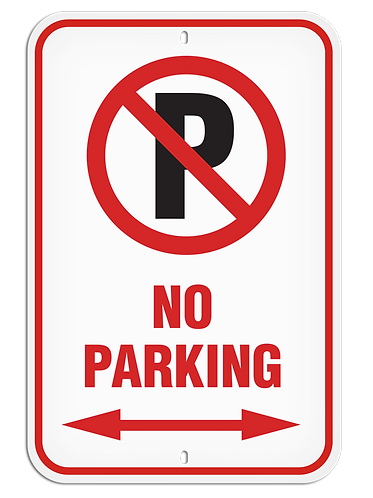 PARKING LOT SIGN - No Parking