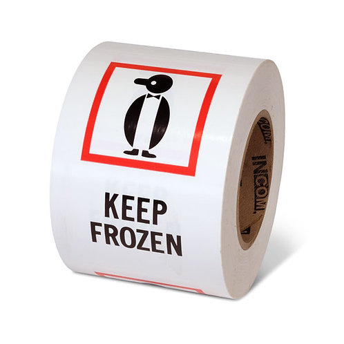 "KEEP FROZEN - 6"" x 4"" Handling Label"
