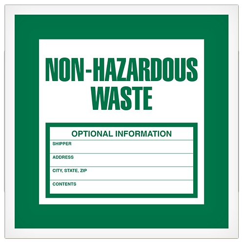 Non-Hazardous Waste