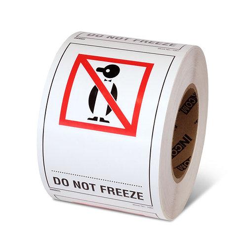 "DO NOT FREEZE - 6"" x 4"" Handling Label"