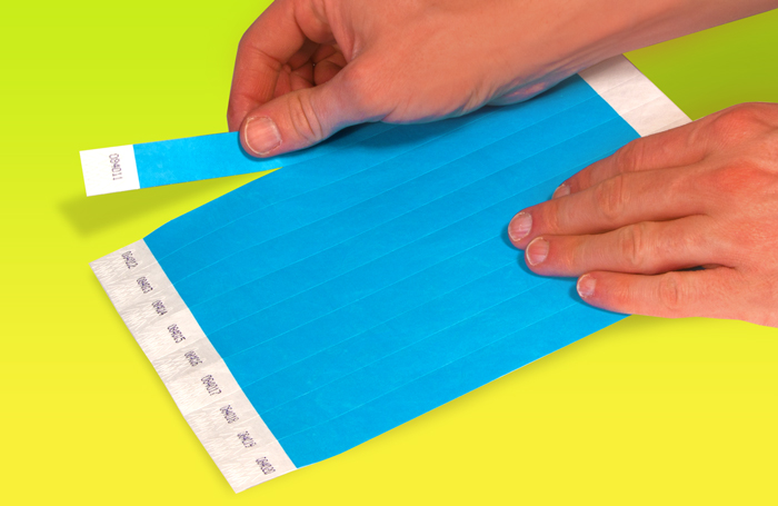 Tyvek Wristband sheet of 10