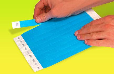 Tyvek Wristband 10 per Sheet