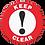 Thumbnail: Keep Clear Floor Sign