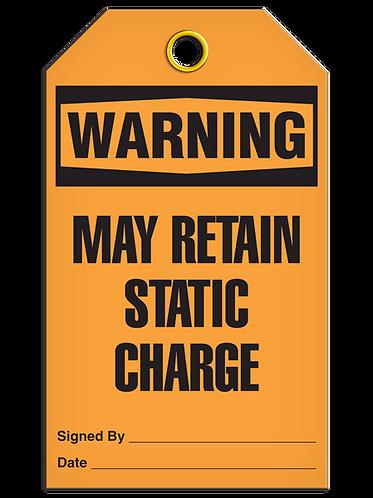 WARNING - May Retain Static Charge