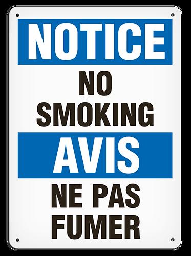 BILINGUAL NOTICE - No Smoking