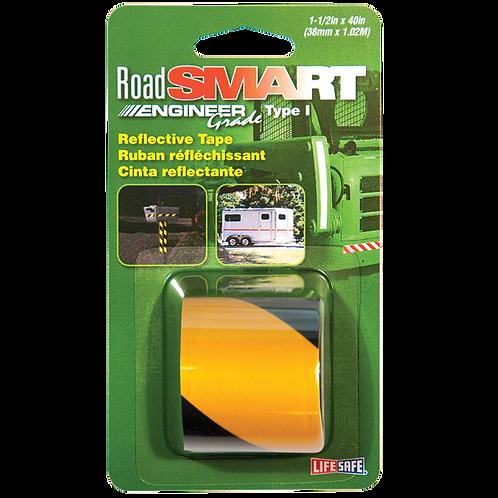 "Road Smart Yellow/Black Engineer Grade Reflective Tape 1.5"" x 40"""