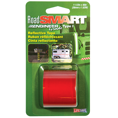 """Road Smart Red Engineer Grade Reflective Tape 1.5"""" x 40"""""""