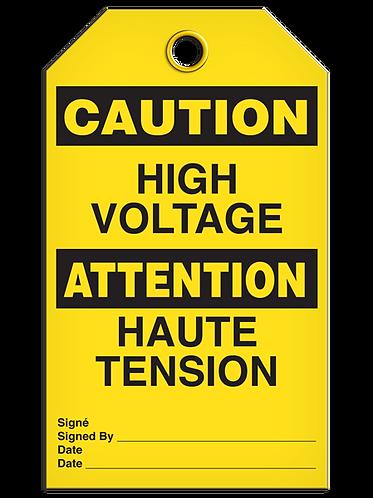 Bilingual CAUTION - HIGH VOLTAGE