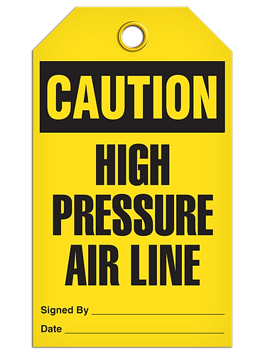 CAUTION - High Pressure Air Line