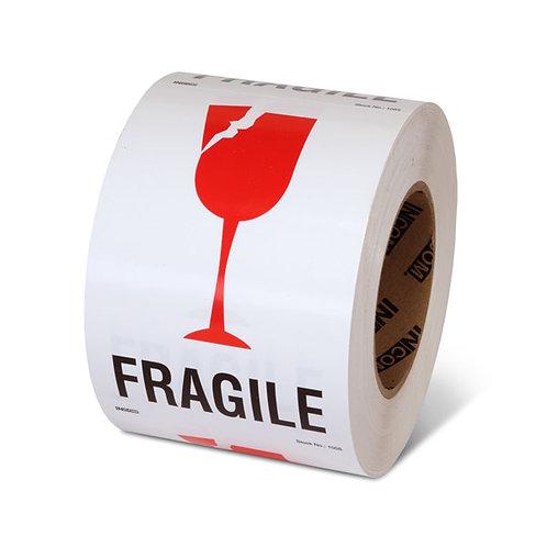 """FRAGILE - 6"""" x 4"""" Handling Label"""