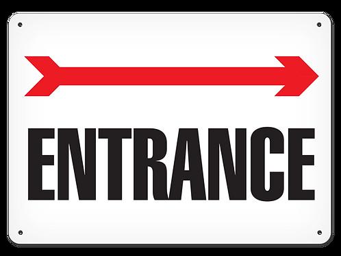 Entrance Arrow Right Sign
