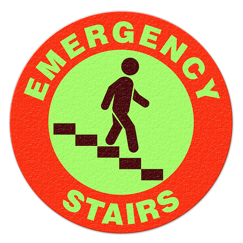 Emergency Stairs Glow Floor Sign