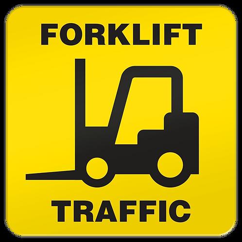 Forklift Traffic Floor Sign