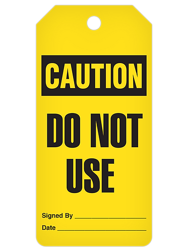 CAUTION Tag Roll  -  Do Not Use