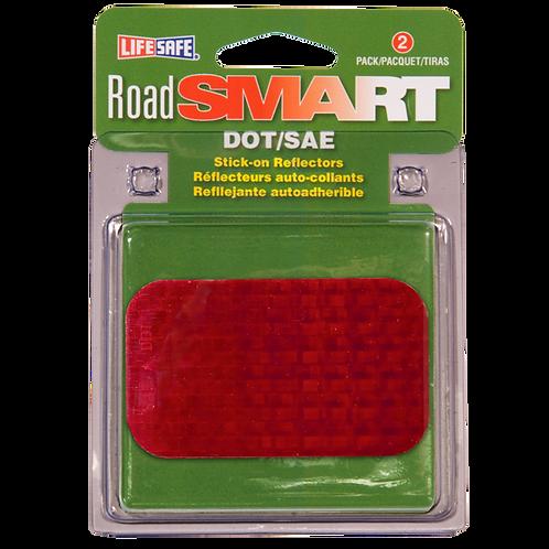 "Road Smart Red Stick-On Reflectors 2"" x 3.5"""