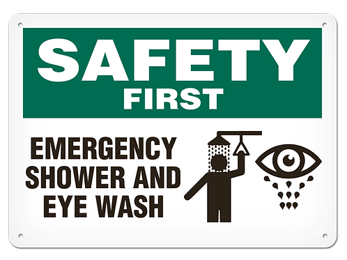 SAFETY FIRST - Emergency Shower And Eye Wash