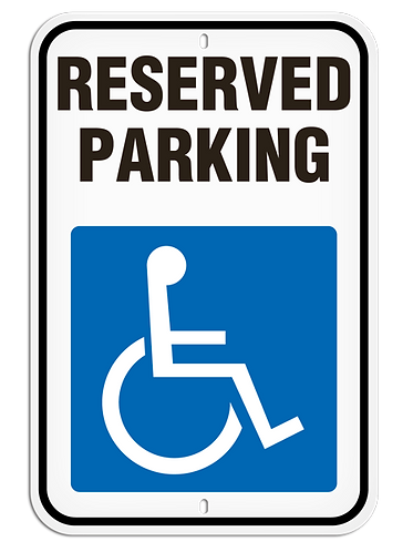 PARKING LOT SIGNS - Reserved Parking (With Picto)