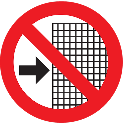 Prohibited - Do Not Remove Guards