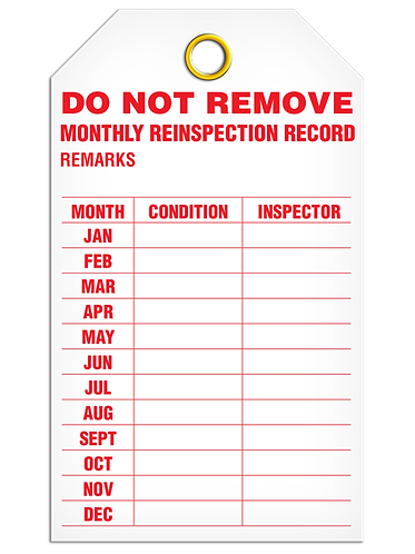 Inspection  -  Monthly Reinspection Record