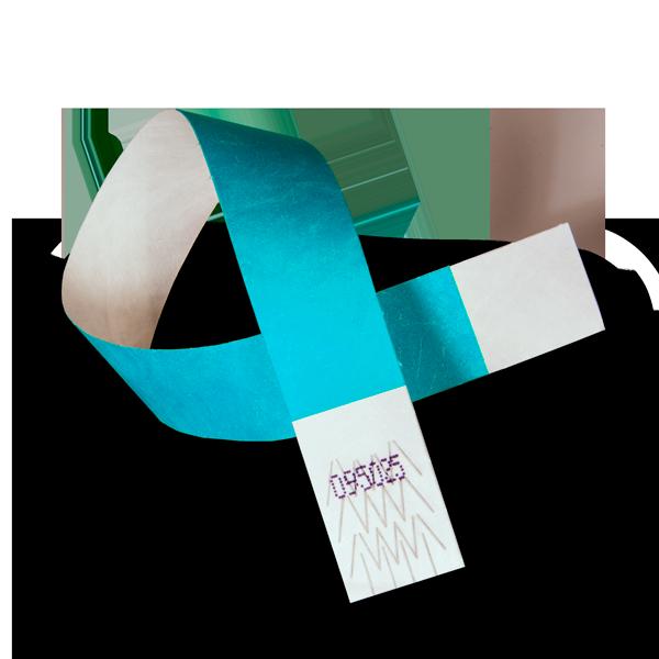 Tyvek® Wristband in Neon Blue