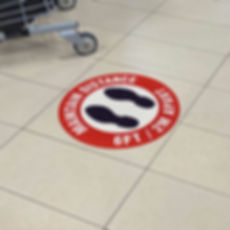 Grocery Store Floor Sign Maintain Distance
