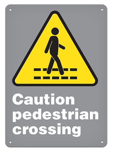 CAUTION - Caution Pedestrian Crossing