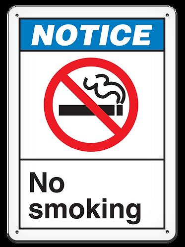 NOTICE - No Smoking