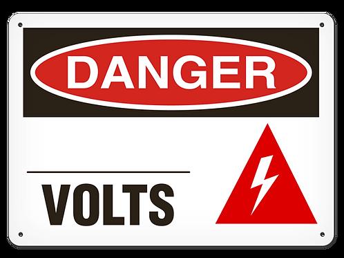 DANGER -  ___ Volts Safety Sign