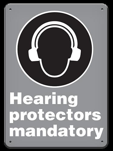 MANDATORY - Hearing Protectors Mandatory