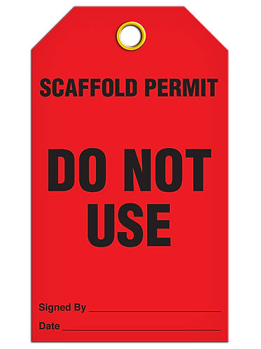 Inspection  -   Scaffold Permit Do Not Use
