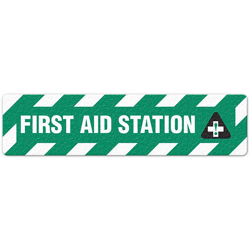 First Aid Station Floor Sign